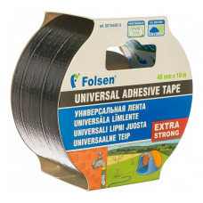 Армированный скотч Folsen 48 мм х 10 м черный