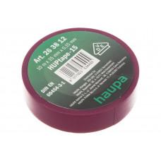 Изолента ПВХ HAUPA фиолетовая 15 мм x 10 м d=60 мм