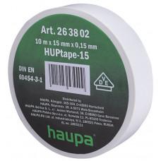 Изолента ПВХ HAUPA белая 15 мм x 10 м d=60 мм
